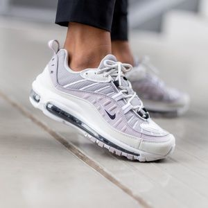 NEW Nike Air Max 98 Silver Lilac Violet Black Wht